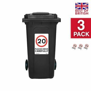 20 Mph Speed Signs [3 X Pack] - A4 Vinyl Stickers, White Background Ideal For...