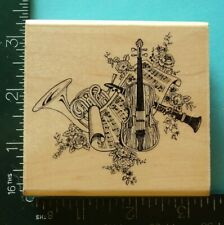 Musical Instruments Rubber Stamp by Embossing Arts