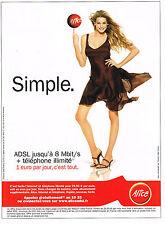 PUBLICITE ADVERTISING 104  2005  ALICE ADSL  téléphonie internet