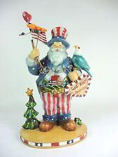 Christmas Decoration Patriotic Santa Claus