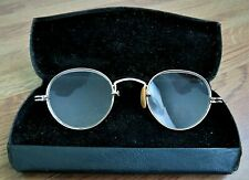 Antique Ornate 1/10 12k Gf Yellow Gold Eyeglasses Spectacles with Case.