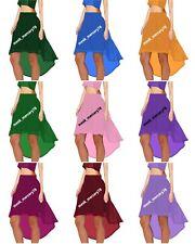Belly Dance Women Chiffon Hi Low Skirt Asymmetrical skirt Tribal Dance Wear C9