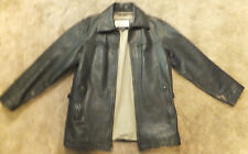 Vintage Heavy Leather M JULIAN/WILSON Leather Bomber Jacket Sz Small Quite Good