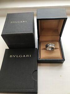 Genuine BVLGARI B.Zero1 Ring 18ct White Gold EU 52 Size
