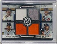 JOSE ALTUVE 2020 TOPPS MUSEUM GAME USED JERSEY RELIC #/d 18/99 HOUSTON ASTROS