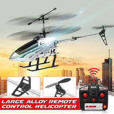 33'' 3.5CH 2.4G Extra Large RC Helicopter Remote Control Two Blades Gift Silver