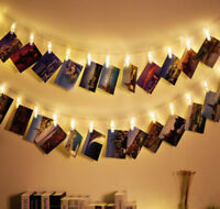 new LED Photo Clip String Lights Battery Operated for Bedroom Hanging Cards