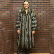 ladies SALE!!! QUALITY! SILVER TIP RACCOON FUR COAT!  SMALL PETITE free ship usa