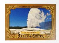 2016 Topps Allen and Ginter Natural Wonders #NW6 Old Faithful - NM-MT