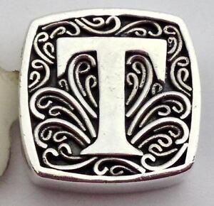 Authentic Lori Bonn Bons 925 Silver T Is for Tempting Slide Charm 29920xt, New