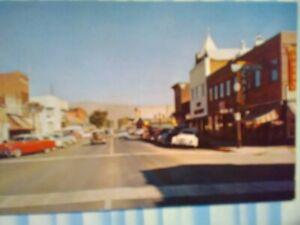 VINTAGE POST CARD CARSON STREET CARSON CITY NEVADA.