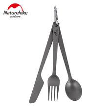 3pcs/set Titanium Camping Travel Picnic Cutlery Knife Fork Spoon tableware