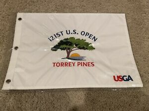 2021 Official Embroidered US Open Flag Torrey Pines IN HAND Jon Rahm Win QTY