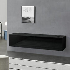 B-WARE Lowboard Hängeboard mit Schranktüren Fernsehtisch Kommode Schwarz
