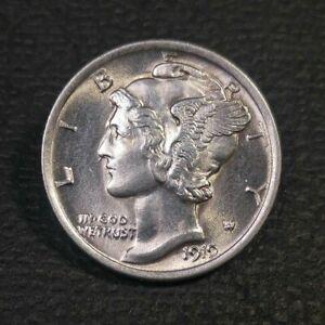 1919 Mercury Head Dime UNC