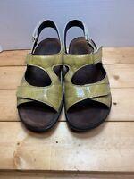 Mephisto Mobils Sandals Mustard Snake Print Leather France Size US 10 EUR 40