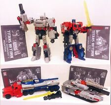2016 Hasbro Transformers Titans Return Voyager Optimus Prime & Megatron Lot