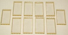 LEGO LOT OF 10 NEW WINDOWS WITH TAN FRAMES 1x4x6 & CLEAR GLASS PIECES PIECES