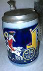 Jaksch Beer Stein Mohr Royal Hand Crafted #426N 100 Jahre German Pewter lid .5L