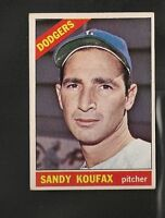 3997* 1966 Topps # 100 Sandy Koufax EX