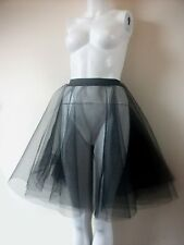 ROCK AND ROLL BLACK 2 LAYERS STIFF NET SKIRT FULL CIRCLE UNDER SKIRT PETTICOAT