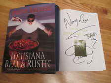 Celebrity Chef EMERIL LAGASSE signed LOUISIANA REAL & RUSTIC Book Nancy & Chris