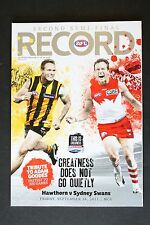 2011 Hawthorn v Sydney Swans 2nd semi- final football record footy