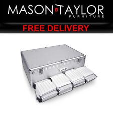 Mason Taylor 1000 Disc Aluminium Storage Box Silver Case-CD-1000-SL