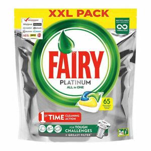 Fairy Platinum Dishwasher Tablets Lemon, 65 Tablets