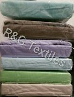 100% Cotton Flannel / Flannelette Fitted Sheet queen single double 40cm deep