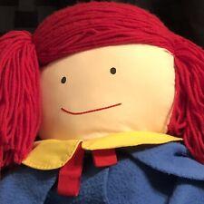Vintage Eden Madeline 34� Plush Stuffed Doll 1990 School Dress & Hat Oversized