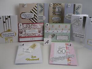 Grußkarten, Handarbeit, Karte Stampin Up - u.A. Versch. Anlässe (Auswahl - A)