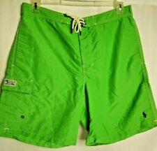 Polo Ralph Lauren Swimwear Green Drawstring Swim Trunks Pony Mens Large
