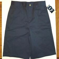 French Toast Boys Uniform Shorts Navy 12 Adjustable Waist Twill Flat Front