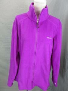 Columbia Interchange Size 1X Womens Purple Full Zip Thermal Fleece Jacket T549