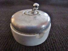 Ancien interrupteur/commutateur électrique  porcelaine-coque en aluminium