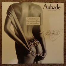 SEXY Aubade Lingerie Catalogue 2006 BUTT Fashion Model Thong Fall Winter NUDE