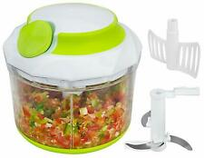 Brieftons QuickPull Food Chopper: Large 4-Cup Powerful Manual Hand Held
