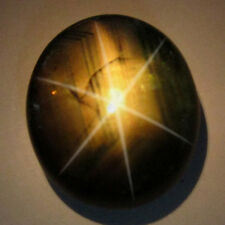 6.40 Ct. Oval Cabochon Nice 6 Rays Unheated Black Star Sapphire L3394
