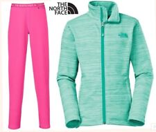 lot THE NORTH FACE fleece jacket & thermal baselayer bottoms warm girls M 10-12