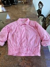 Ladies Size 8/10 Vintage Pink Puffer Jacket Coat Indi
