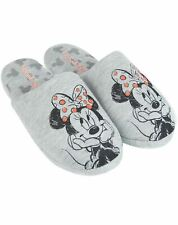 Disney Minnie Mouse Sketch Women's Slip-on House Slippers in Grey