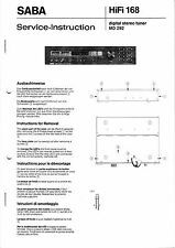 Service Manual-Anleitung für Saba MD 292