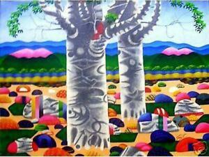 Trees & Stones Art Philippines Oil Painting