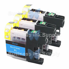 3 CYAN LC103XL HIGH YIELD LC103 Ink Cartridge * VERSION 3 Chip * for BROTHER