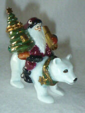 Artoria Lynn Haney Limoges France Polar Bear Santa Ltd Ed 44/1000 Trinket Box
