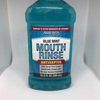 Assured Blue Mint Oral Rinse Mouth Mouthwash -Advanced Formula- Antiseptic 16oz