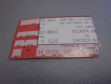 Chicago Bulls vs Atlanta Hawks 12-21-1975 At,The Omni Game Ticket Stub