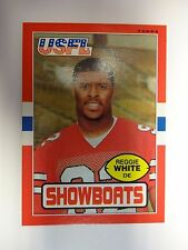 1985 Topps USFL Reggie White Rookie Football Card # 75 Memphis Showboats