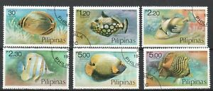 PHILIPPINES 1978 FISH MARINE LIFE COMP. SET OF 6 STAMPS SC#1379-1384 FINE USED